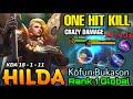 One Hit Kill!! Hilda Sacred Guard Insane DMG Build - Top 1 Global Hilda by Kōfun.Bukason - MLBB