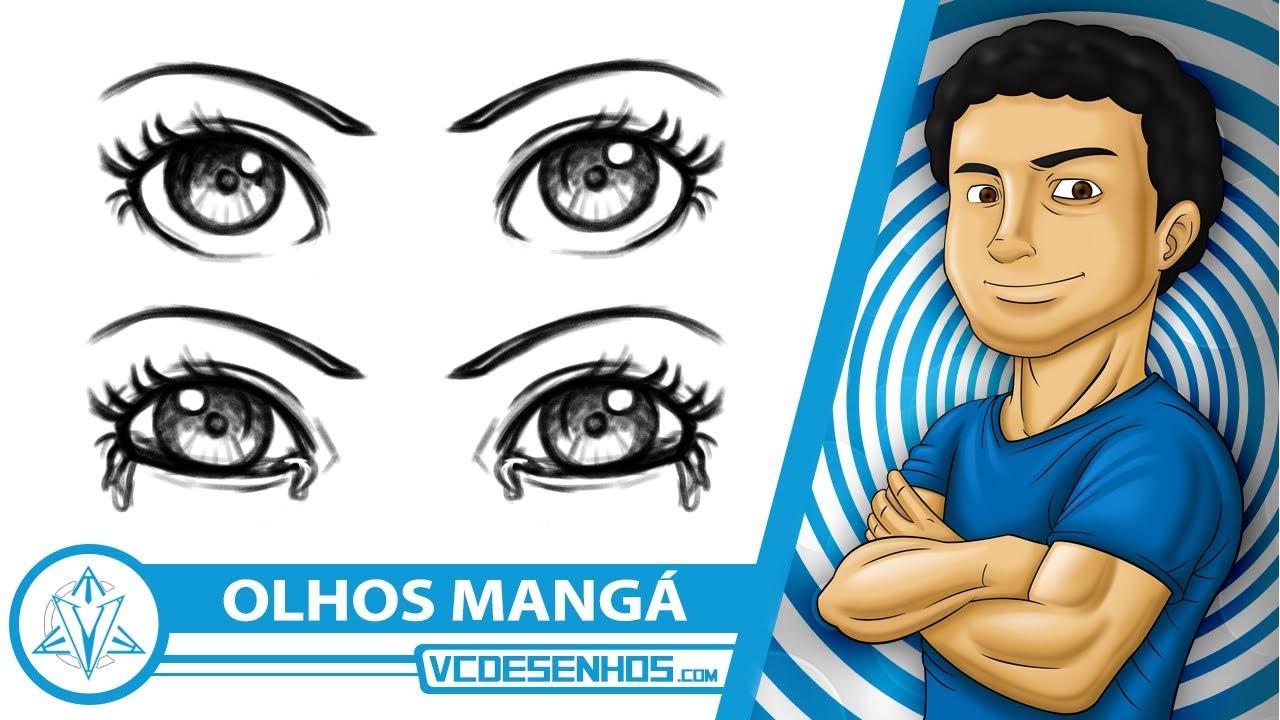 Como Desenhar Olhos Femininos Manga Youtube