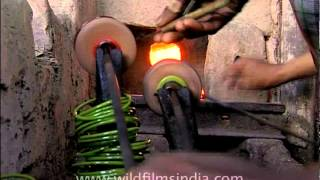Work of precision - traditional bangle making in India