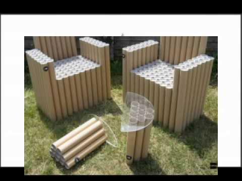 Ideas para muebles hechos con carton youtube for Ideas para hacer sillones reciclados