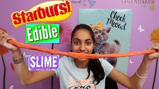 DIY Edible Starburst Slime! Make Candy Slime!