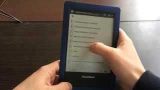 Видеообзор электронной книги Pocketbook Aqua (640)