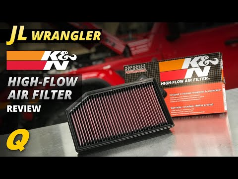 K&N 33-5076 Replacement Air Filter for 18-19 Jeep Wrangler JL & Gladiator  JT 3 6L & 2 0L Turbo Engines