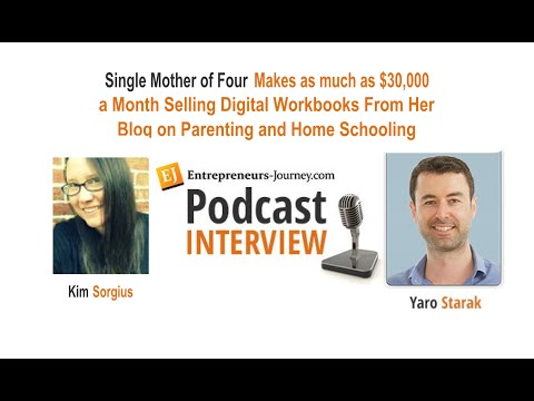 Kim Sorgius: Single Mom Makes $30K/mo Selling Digital Workbooks Video