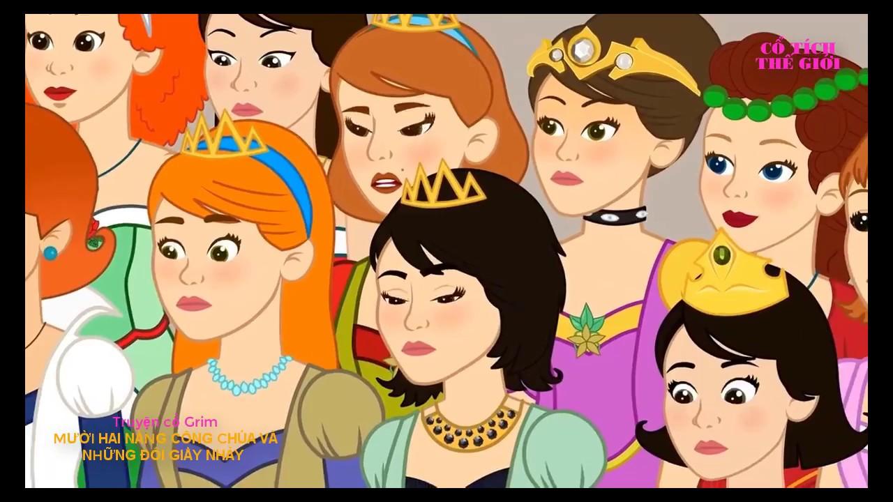 12 Nàng Công chúa thích Khiêu vũ - chuyện cổ tích