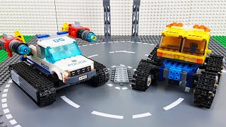 Lego Experimental Cars and Trucks for Kids, Fire Truck,  Excavator toy Vehicles for Children