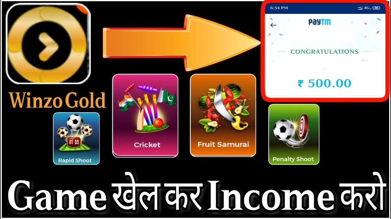 Winzo Gold App--Unlimited Free Paytm Cash App 2019,Best Paytm Cash Earning App 2019 With Proof