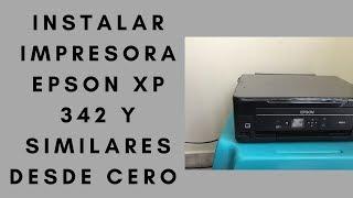 ✔️COMO INSTALAR IMPRESORA EPSON XP 342 CON WIFI