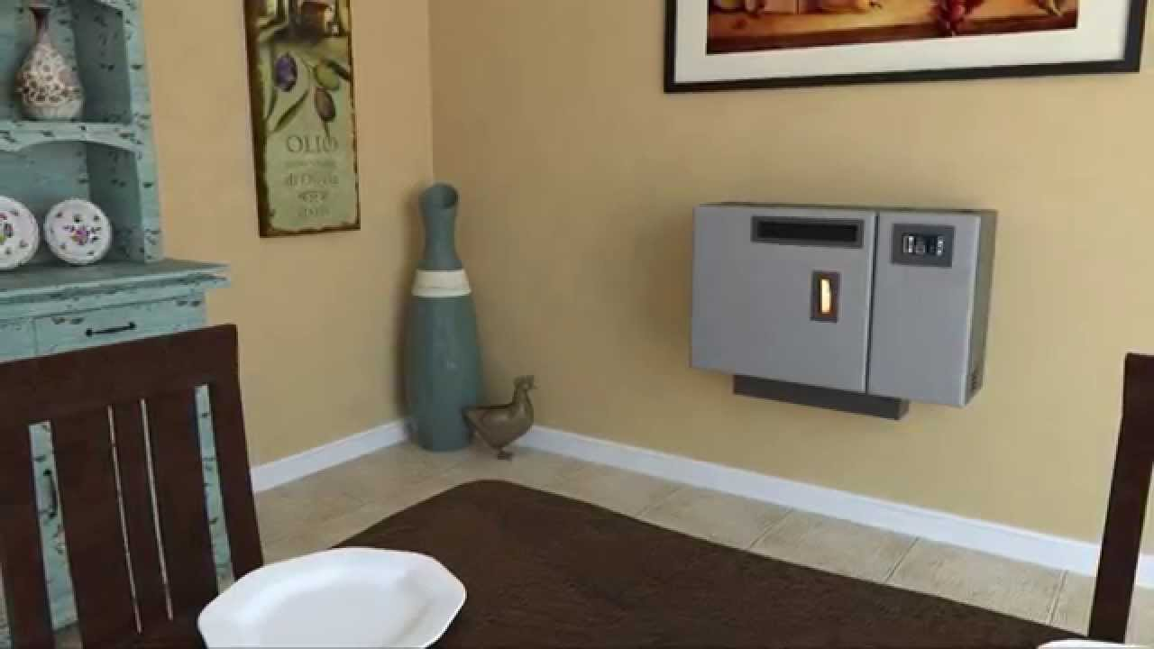 4840 Wall Mount Pellet Stove Youtube