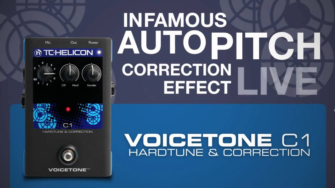 Tc-helicon voicetone c1 vocal auto-tune and pitch correction chart