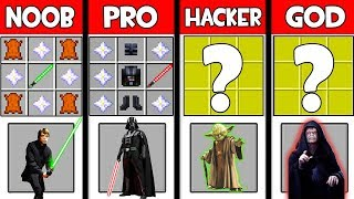 Minecraft Battle: THE JEDI CRAFTING ! NOOB vs PRO vs HACKER vs GOD in Minecraft Animation