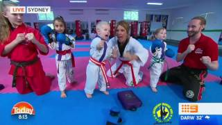 Australian Martial Arts on The Today Show- Mini Dragons