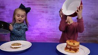 SQUISHY FOOD vs REAL FOOD CHALLENGE!!! (Kids Edition)