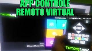 Controle Remoto virtual TocomLink Cine HD, e para toda linha Tocom para Smartphone Funcionando!