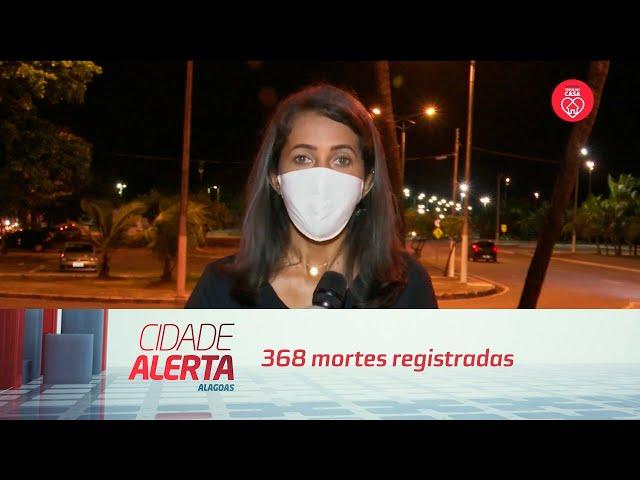Alagoas tem 7.580 casos da covid-19; 368 mortes registradas