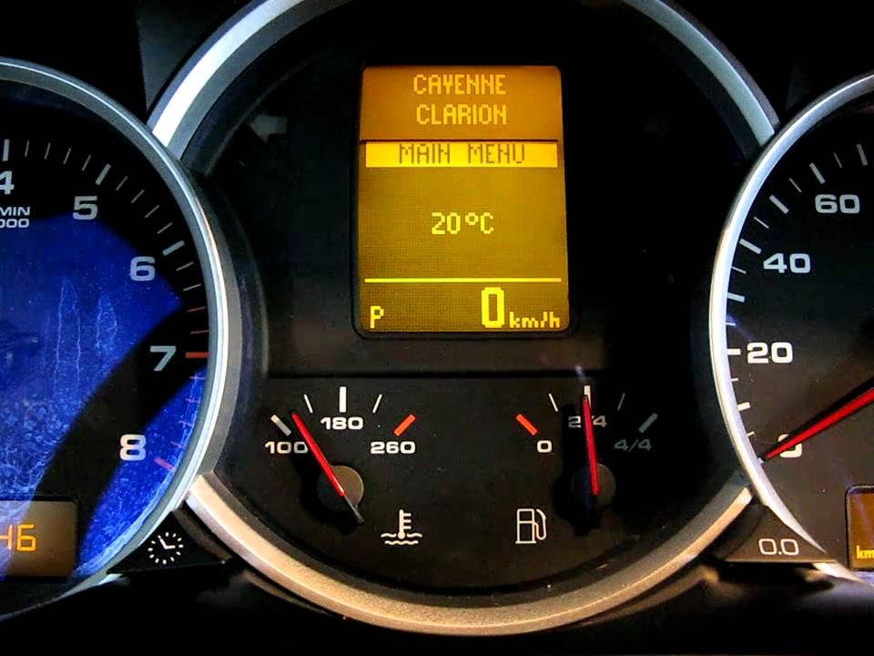 Steering Wheel Button Control Porsche Cayenne Avi Youtube