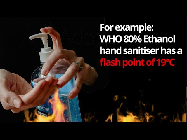 Flash point of WHO hand sanitiser