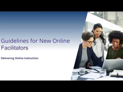 Ellucian Training: Guidelines For New Online Facilitators Facilitation