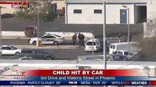 8-YEAR-OLD BOY HIT BY CAR: In extremely critical condition following accident in PHX (FNN)