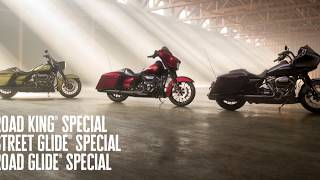 2018 - THE HARLEY-DAVIDSON STREET GLIDE SPECIAL, ROAD GLIDE SPECIAL AND ROAD KING SPECIAL