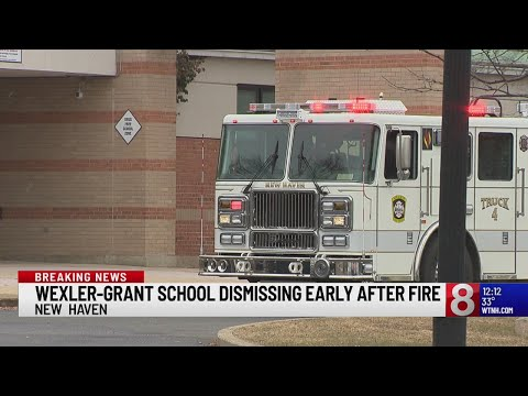 New Haven school dismisses students early after fire