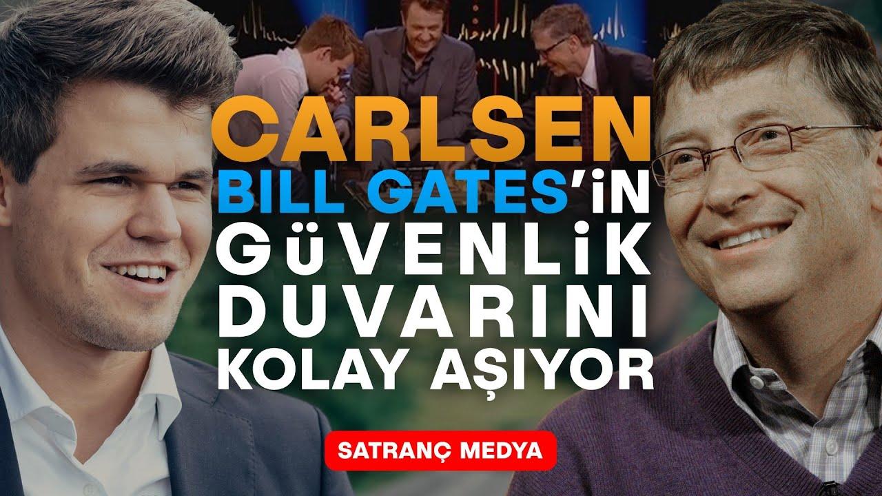 Bill Gates, Dünya Şampiyonu Magnus Carlsen'in Karşısında