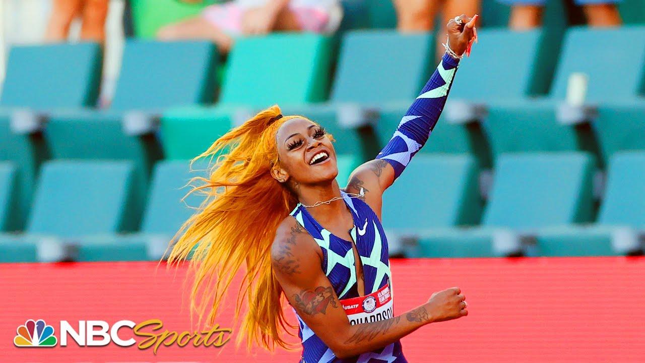 Sha'Carri Richardson Bolts into History and into Tokyo Olympics