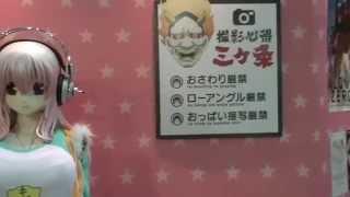2014年3月22日東京ビックサイトで開催されたAnimeJapan2014(初日)で展示されていた「すーぱーそに子」等身大フィギュア。北村マネージャーの撮影...