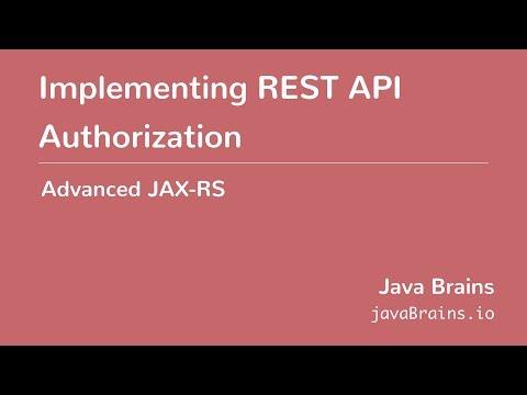 Advanced JAX-RS 24 - Implementing REST API...