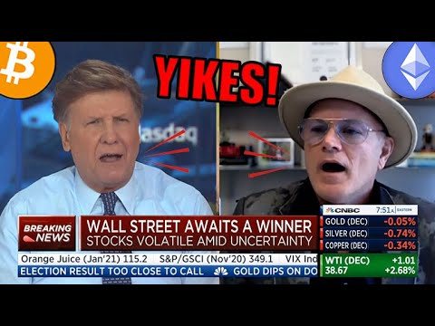 YIKES! Watch CNBC Anchor Joe Kernan SLAM Bitcoin Bull Mike Novogratz +Bitcoin's Future Post Election