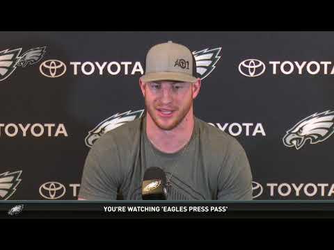 Eagles Press Pass: QB Carson Wentz (4/17/18)