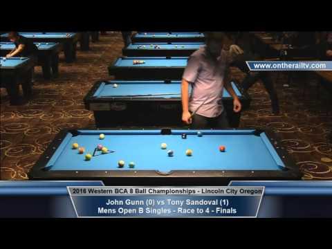 2016 WBCA 8 Ball - Mens B Finals - Gunn vs Sandoval