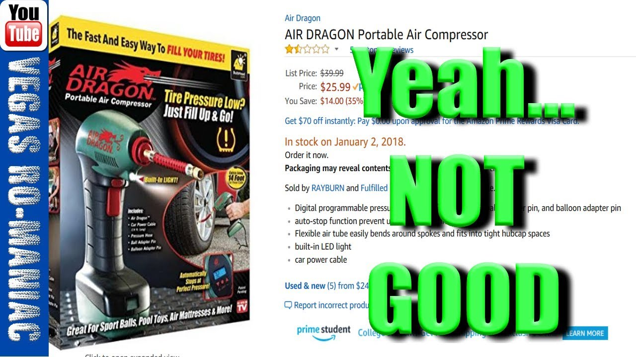 Air Dragon Tire Inflator >> Air Dragon Portable Tire Inflator As Seen On Tv Review Except It Doesn T Work Part