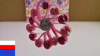 wiosenne kwiaty z papieru | wprowadzenie do Quilling