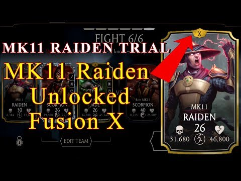 Mortal Kombat Mobile  MK11 RAIDEN Fusion X Trail BOSS Battle