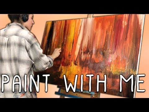 Acrylic Painting Time-Lapse | Abstract Art Sarah Poulton