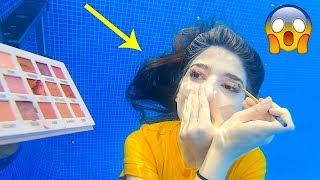 عملت مكياج تحت المي | اغرب فيديو بحياتي!!!!