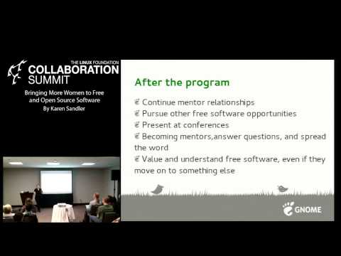Collaboration Summit 2013 - Bringing More Women to Free and Open Source Software