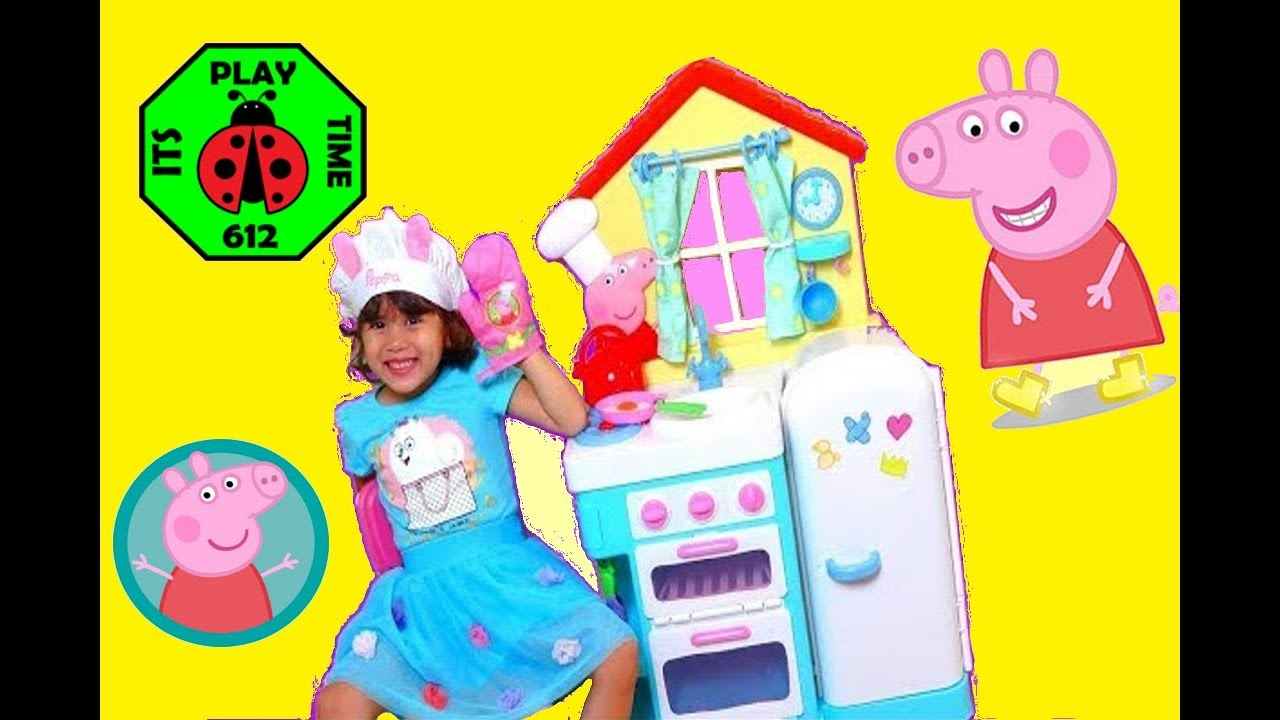 Let S Play Toy Kitchen With Peppa Pig Youtube