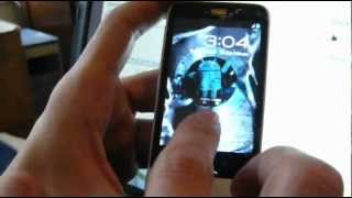 HTC Legend with Cracked Screen and Android 4.0 Ice Cream Sandwich