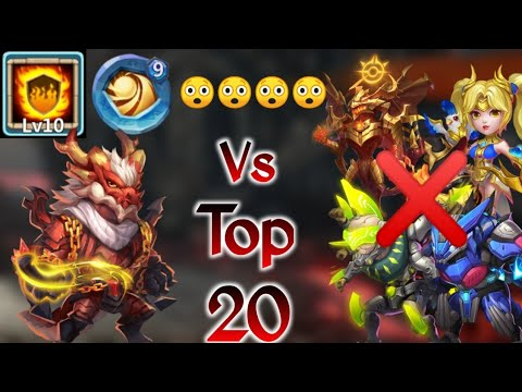 Landswalker Vs Top-20 | Insane 😲 | Killed Zeph/Dove | Only One Hero Won😲 | Castle Clash