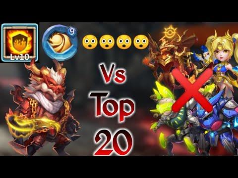 Landswalker Vs Top-20 | Insane 😲 | Killed Zeph/Dove | Only One Hero Won😲 | Castle Clash