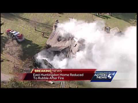 Fire Destroys Large Home In East Huntingdon Township