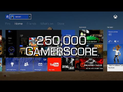 250,000 GAMERSCORE! Looking over my Gamercard & talking about games