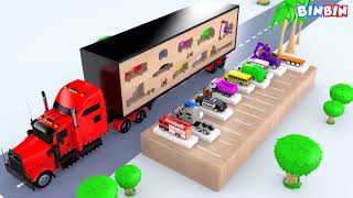Colors for Children to Learn with Tractor Farm Vehicles Shipping #v | Colours Bulldozer For Kids