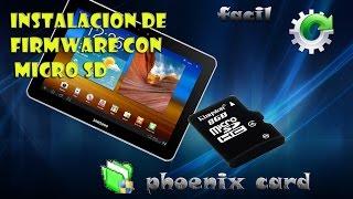 Instalación firmware tablet con Micro SD