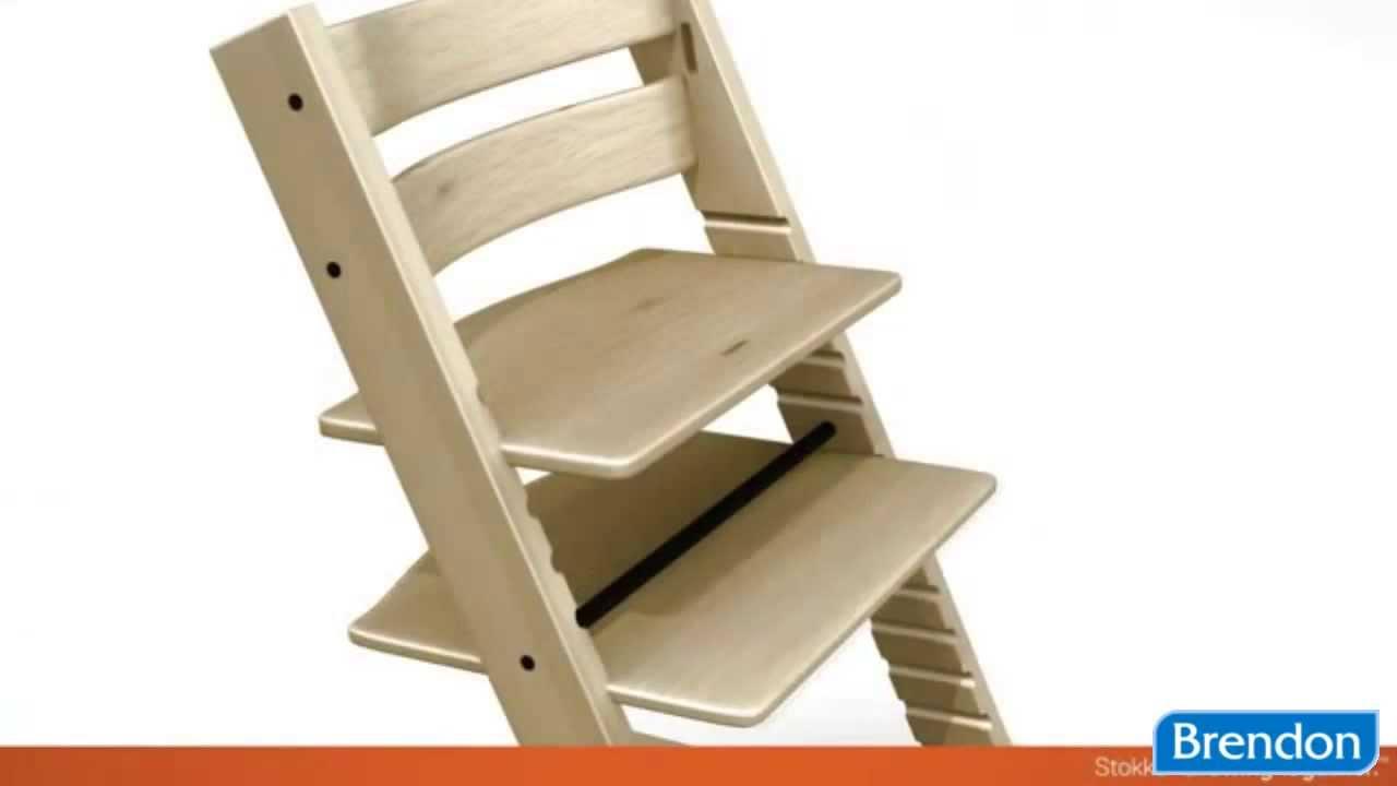 Stokke® Tripp Trapp stolička na kŕmenie drevená