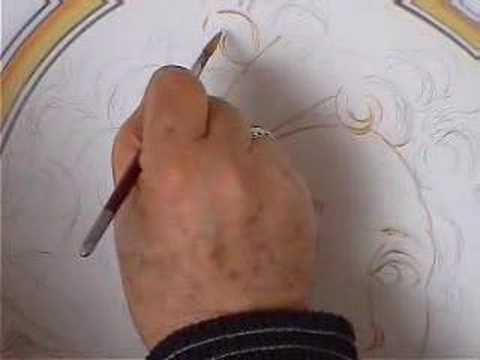pittura su ceramica / ceramic painting (1) - youtube - Pittura Su Piastrelle Di Ceramica