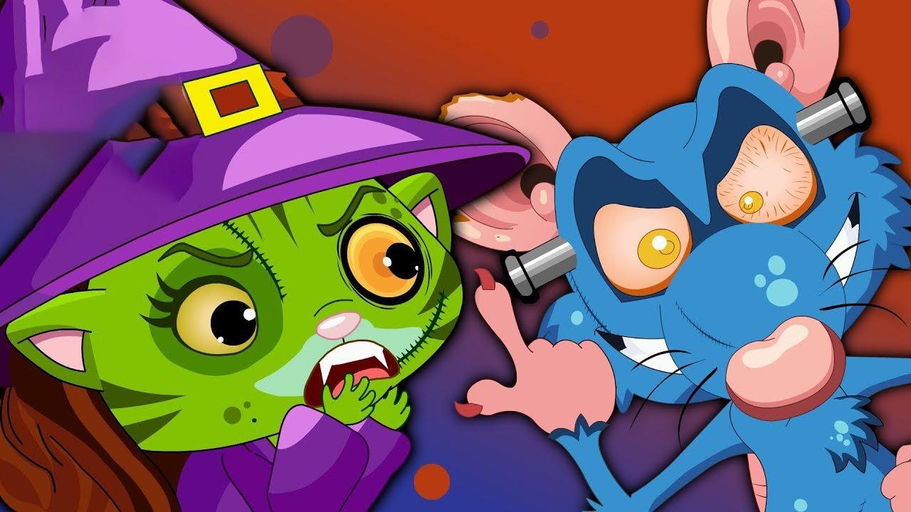 Three Little Kittens - Halloween Nursery Rhyme - Kids Halloween Songs
