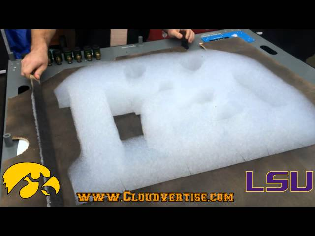 Cloudvertise® Bubloon™ Outback Bowl LSU vs Iowa 3D Foam Printer In Action